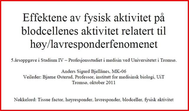 Bjellånes 2011_hovedfagsoppg Effektene av fysisk aktivitet_UiT