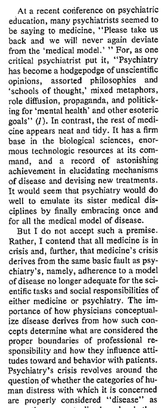 Innledning_bakgrunn for Biopsykososial modell_1977