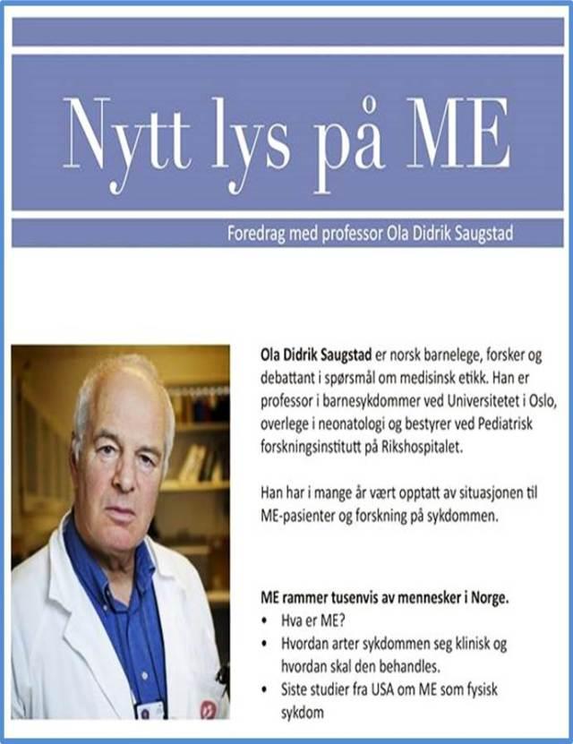 Nytt lys på ME_foredrag av prof Saugstad 2015